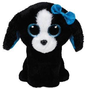 37076 Beanie Boos TRACEY - black/white dog