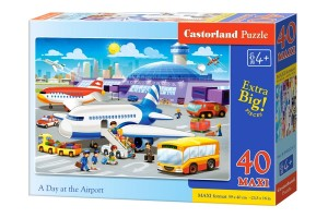 B-040223 Castorland - A Day at the Airport MAXI 40 el.