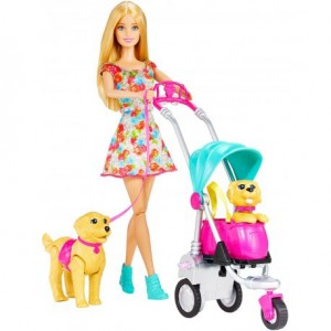 CNB21 Mattel - Barbie Spacer z pieskami