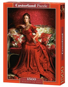 C-151370 Castorland - Beauty in Red 1500 el.