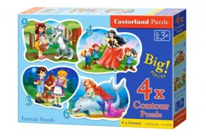 B-005062 Castorland - Fairytale Friends 3+4+6+9 el.