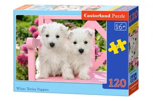 B-13494 Castorland - White Terrier Puppies 120 el.