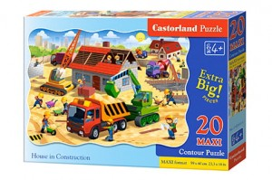 C-02412 Castorland - Housee in Construction MAXI 20 el.