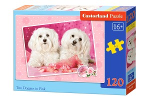 B-13128 Castorland - Two Doggies in Pink 120 el.