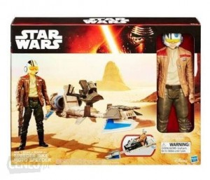 B3918 Hasbro Star Wars - Poe Dameron 30cm i Speeder Bike