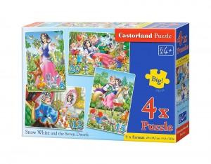 B-04423 Castorland - Snow white and the 7 Dwarfs 8+12+15+20