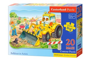 C-02139 Castorland - Bulldozer in Action MAXI 20 el.