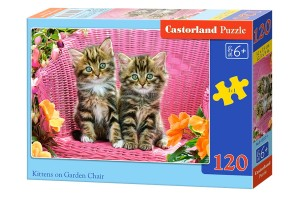 B-13357 Castorland - Kittens on Garden Chair 120 el.