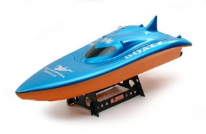 7002 Double Horse Volvo Racing Boat 27MHz; 55 cm; blue