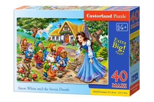 B-040247 Castorland - Snow White and the Seven Dwarfs MAXI 40 el.