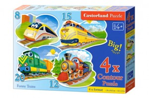 B-043033 Castorland - Funny Trains