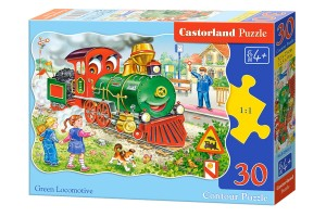B-03433 Castorland - Green Locomotive 30 el.